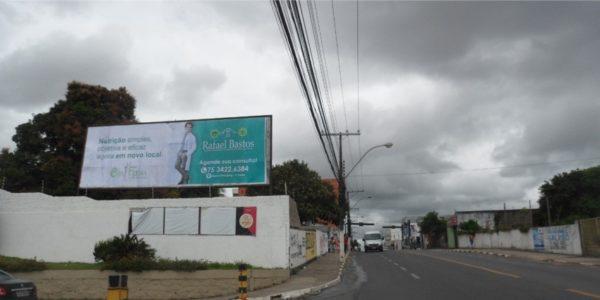 Placa 36: Av. Dantas Bião, estacionamento do Hiper Gbarbosa (sentido comércio)