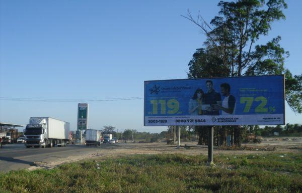 Placa 45: Rodovia BR-110, Governador Mário Covas (próxima ao Posto 5 Estrelas)