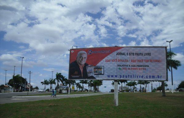 Placa 52: Rodovia BR-101, sentido Alagoinhas (entrada da cidade)