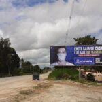 Placa 46: Rodovia BA-504, estrada para Araças, sentido Alagoinhas, próximo à Faculdade de Medicina Estácio