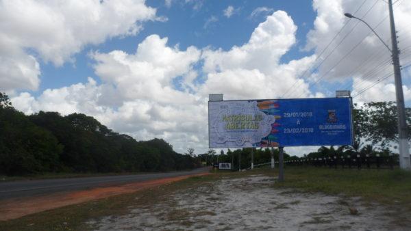 Placa 03: Rodovia BR-110, Parque de Exposições 1 (entrada da cidade)