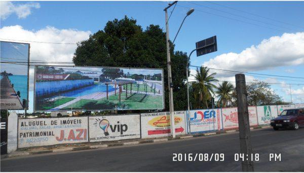 Placa 32: Praça Mário Laerte, Próximo Estádio Antônio Carneiro
