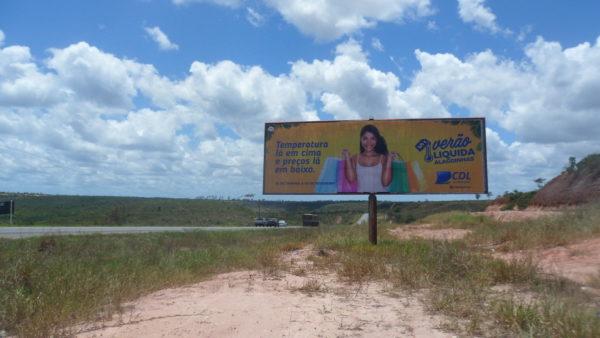 Placa 55: Rodovia BR-110, sentido Entre Rios (saída da cidade)