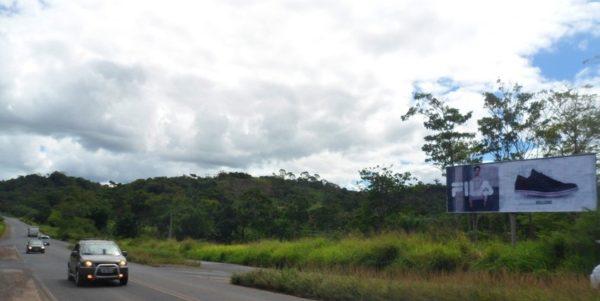 Placa 59: Rodovia BR-420/BR-110, entroncamento de Catu/São Sebastião