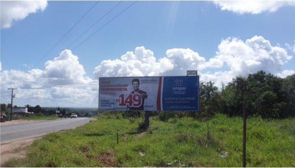 Placa 01: Alagoinhas: Rodovia BR-110, Ponto do Beijú – Entrada da Cidade