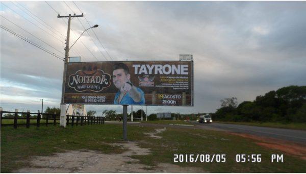 Placa 04: Rodovia BR-110, Parque de Exposições (2) – Saída Cidade