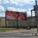 Placa 18: Avenida Joseph Wagner, Texeira's Vidros – Entrada da Cidade